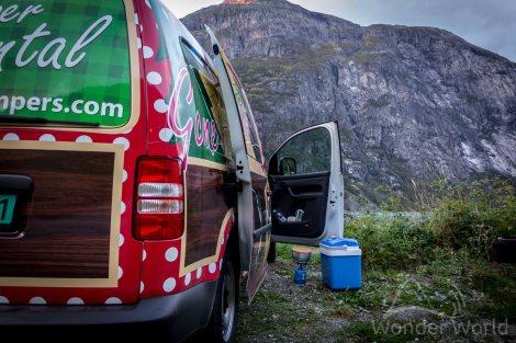 Free-Camping em Eidfjord: a primeira noite