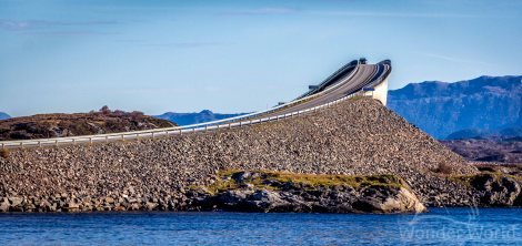Storseisundet Bridge, na Atlantic Ocean Road