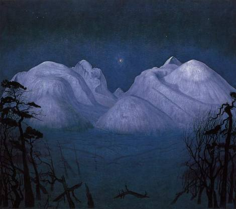 Winter's Night in Rondane, de Harald Sohlberg
