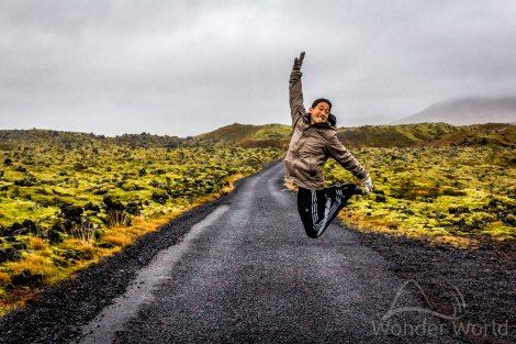 Foto clássica em uma estradinha no Snaefellsjokull National Park