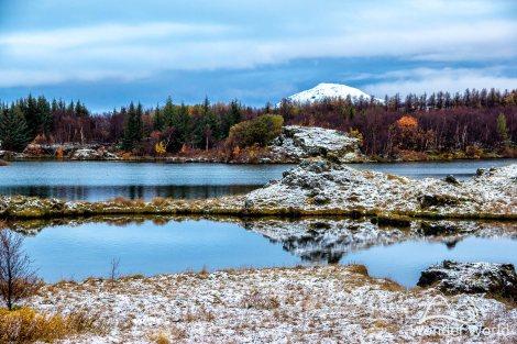 Lago Mývatn, agora com neve!
