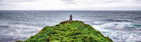 Vento forte na Península de Tjörnes. Nordeste da Islândia