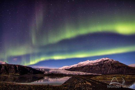 iceland-flaajokull-glacier-northen-lights-aurora-borealis